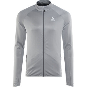 Odlo FLI Midlayer Doorlopende Rits Heren, odlo graphite grey-odlo concrete grey-stripes